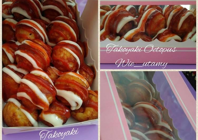 Takoyaki Aneka Isi (gurita, sosis, keju, crabstick)