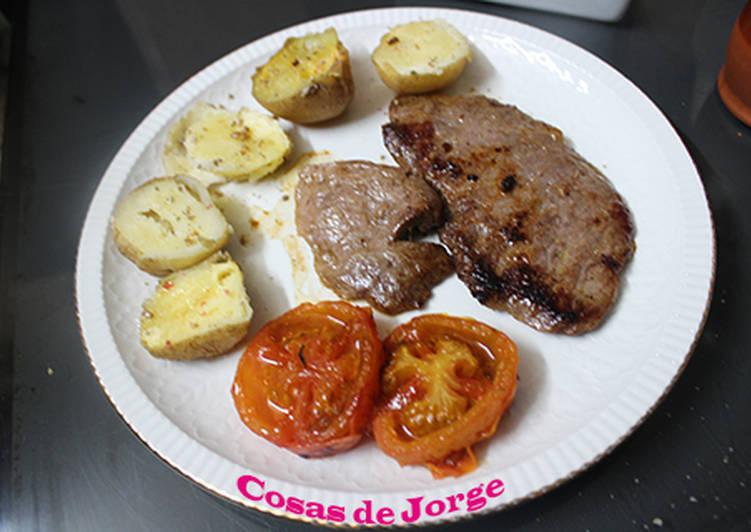 Presa Iberica Con Patatas Al Microondas Receta De Jorbasmar