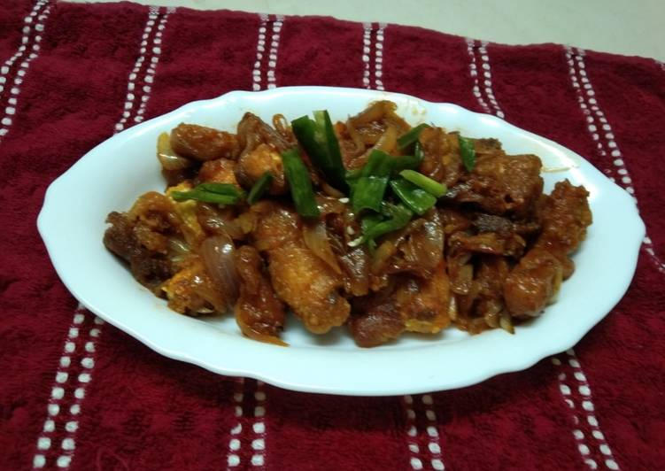 Simple Way to Make Perfect Baby Corn Manchurian with spring onion