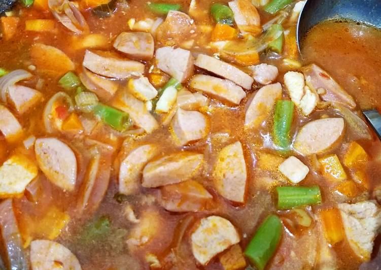 Sup Merah LOWCARB - tanpa saus tomat