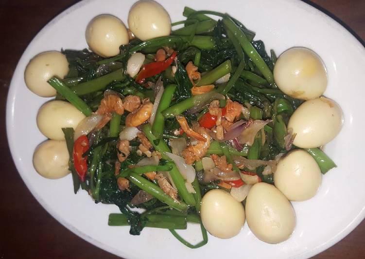 Resep Tumis kangkung telur puyuh oleh Usagi Cooking - Cookpad