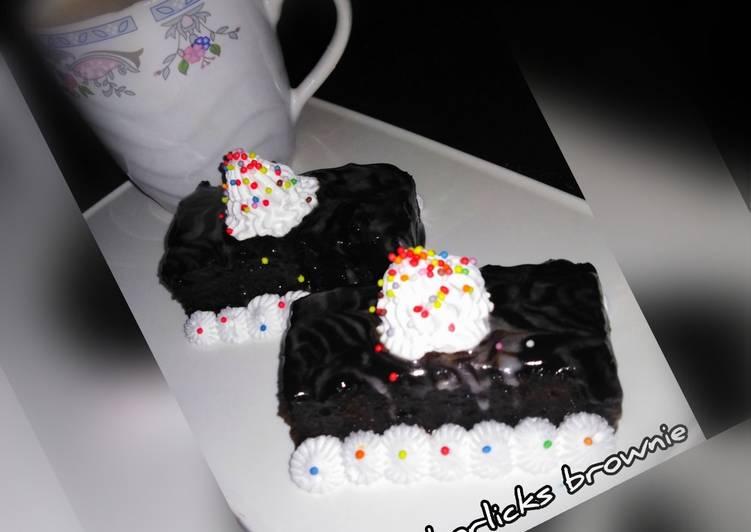 Chocolate horlicks brownie