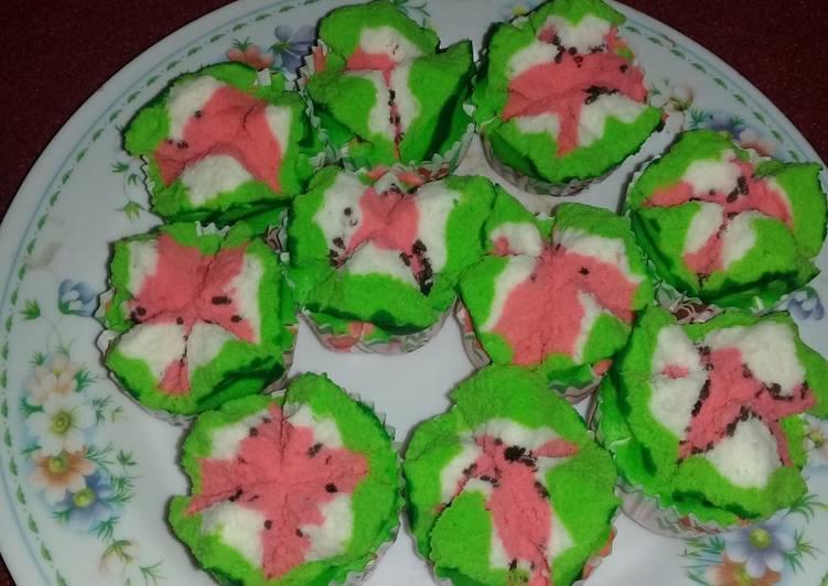 Cara Membuat Bolu kukus mekar semangka untuk jualan