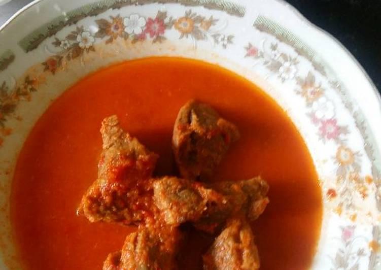 Daging asam pedas (asam padeh dagiang)