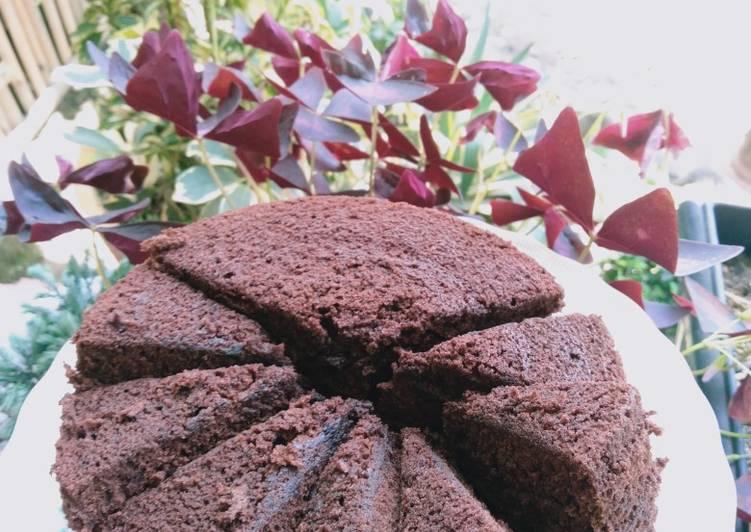 Brownies coklat tanpa mixer dan oven