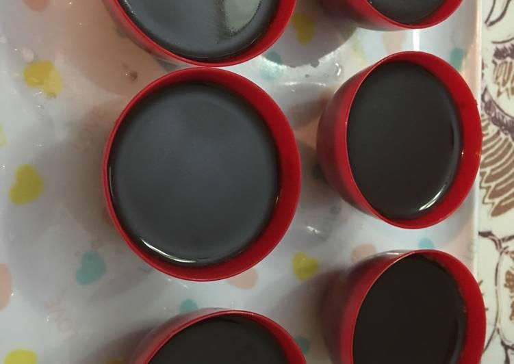 Puding cokelat mini
