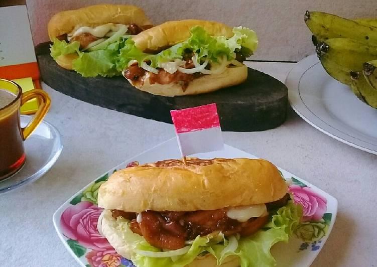 Resep Roti long jhon dg ayam teriyaki yang Sempurna