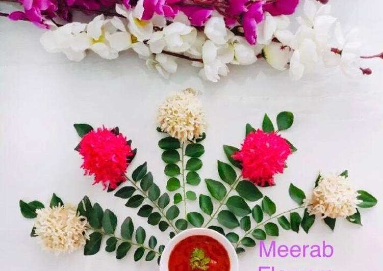 Flower 💐 puff rice meethai balls