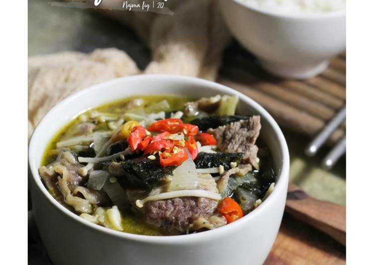 Nori Beef Soup