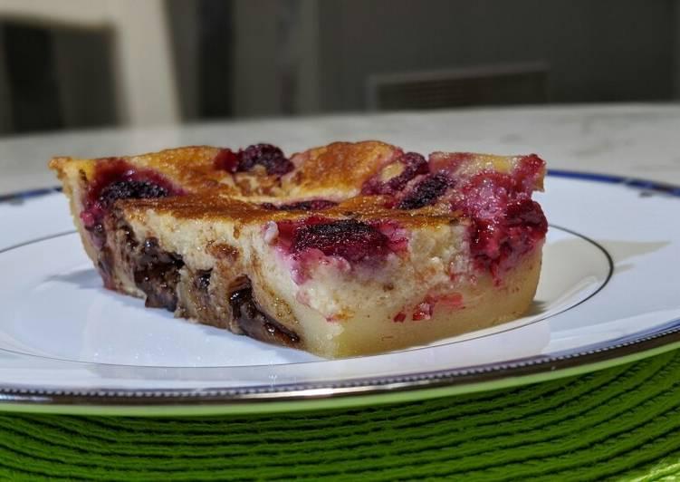 Choco framboise façon clafoutis#dessert