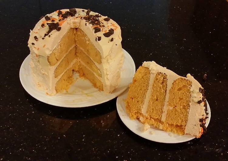 Orange Layer Cake with Orange / Vanilla Whipped Cream Filling and Frosting