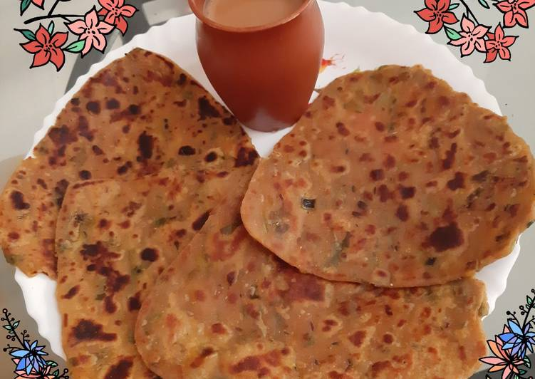 Steps to Make Ultimate Spring Onion Paratha From Leftover Rajasthani Dal