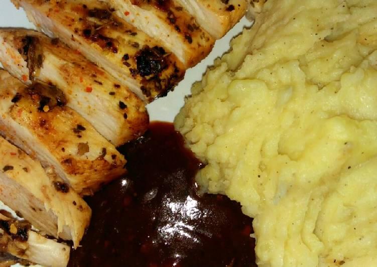 🍋🍗Lemon Garlic Chicken w/ mash potato