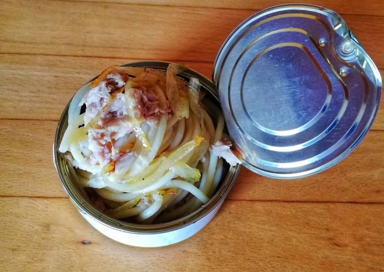 Spaghetti tonno e cipolla 🌷