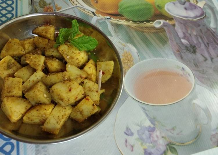 Roasted potato chaat