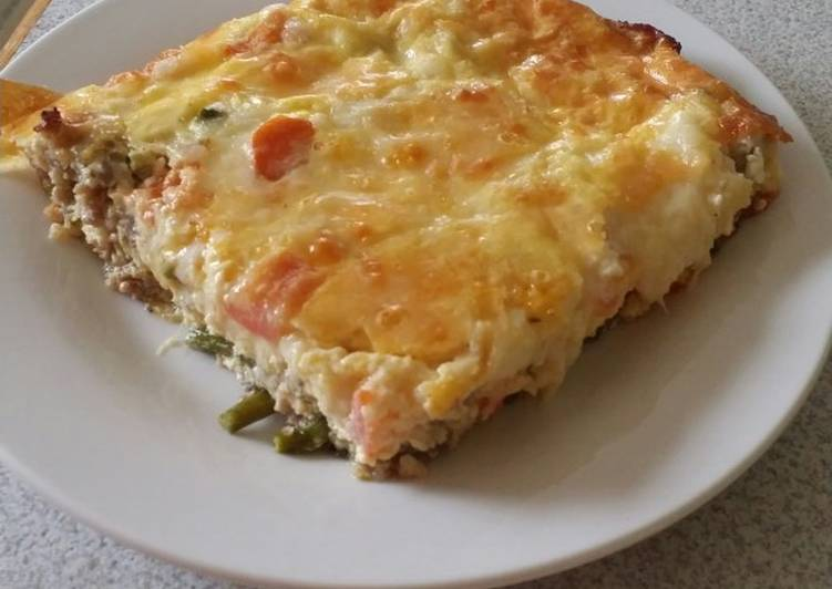 How to Make Delicious Brad's sausage and asparagus quiche