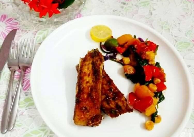 Easiest Way to Prepare Perfect Honey glazed katla fish