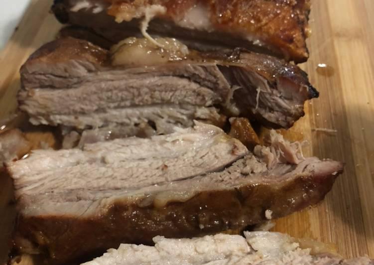 Simple Way to Make Speedy Hoisin Pork Belly with Crispy Crackling