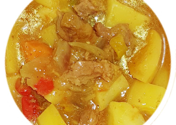Potatoes beef curry