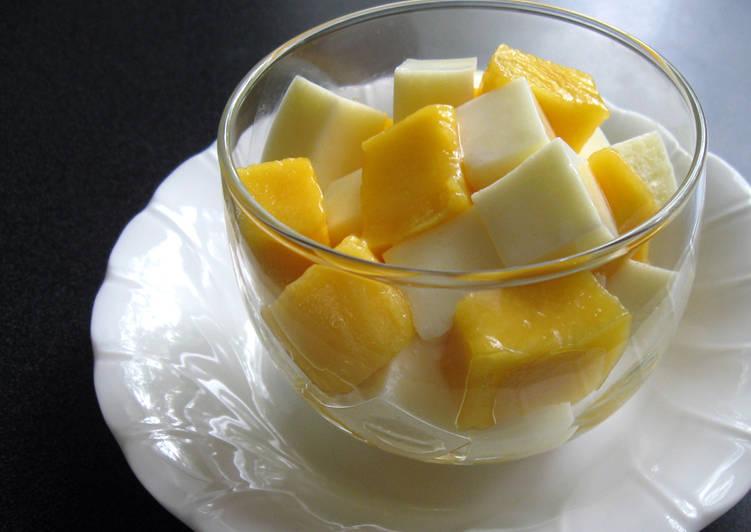 10+ Dinner Easy Vegan Creamy Agar Milk Jelly & Mango