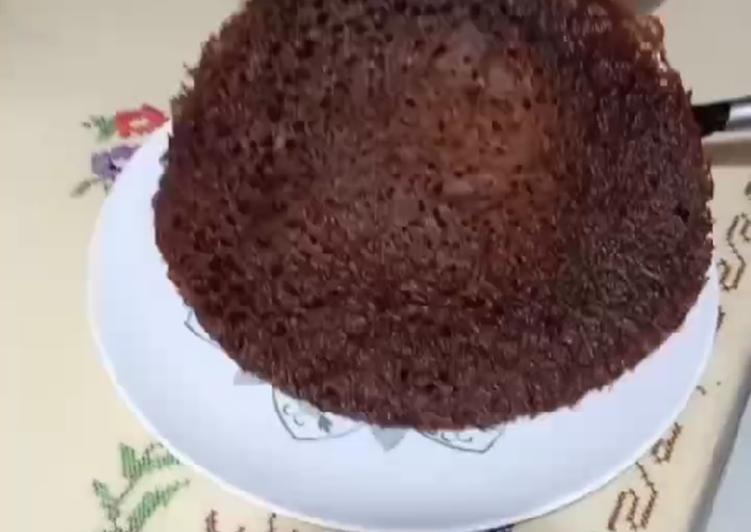 cara mengolah Kue sarang semut panggang teflon - Sajian Dapur Bunda