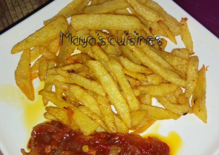 Recipe of Perfect Fried tumeric chips