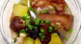 Hình ảnh món Giò heo hầm đu đủ, hạt sen-đậu phộng-đậu đỏ