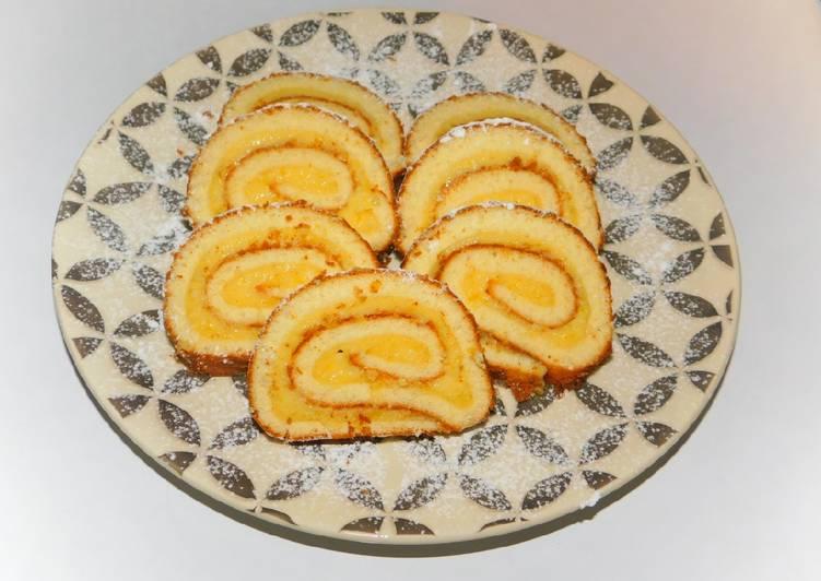 Gateau roulé à la crème au citron