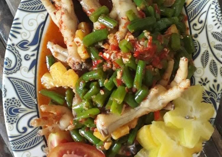 #Sambalado ceker + sayur