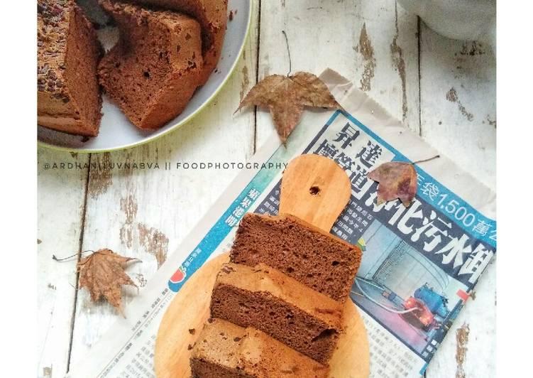 Moist Chocolate Chiffon Cake #BikinRamadanBerkesan