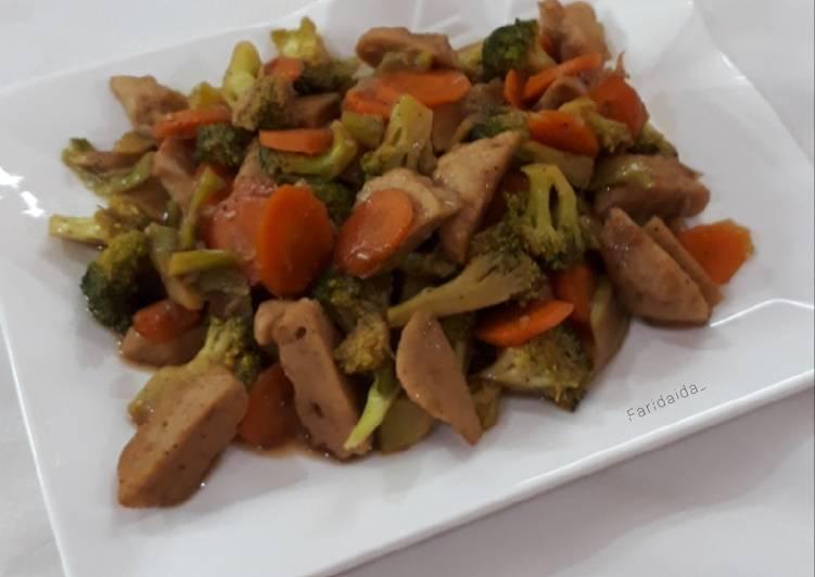 Tumis brokoli bakso