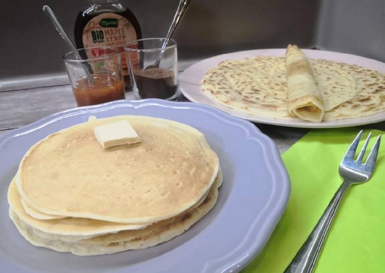 Glutén és tejmentes amerikai vagy tekerős palacsinta recept foto