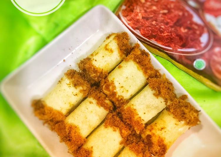 Simple meat floss bread / roti abon