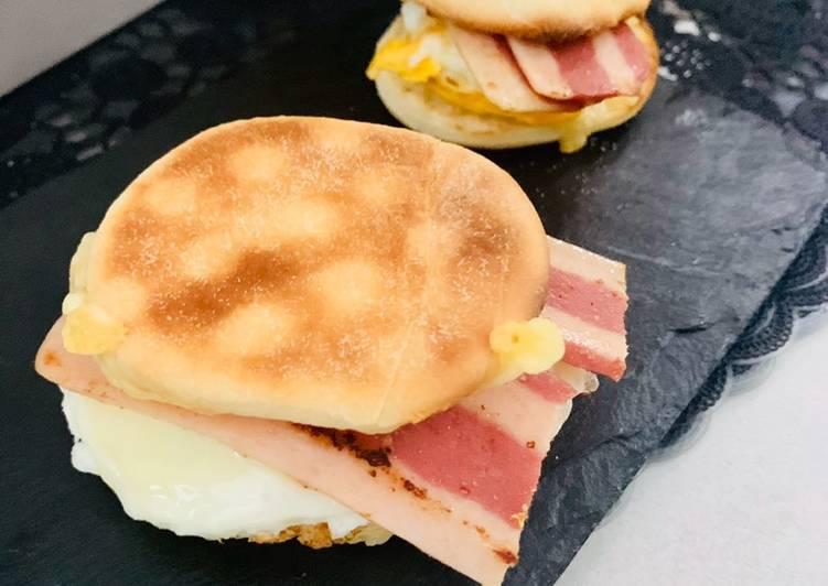 Mc Muffin bacon et œuf maison