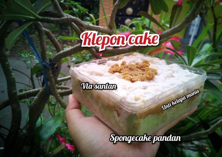 Klepon cake pondan