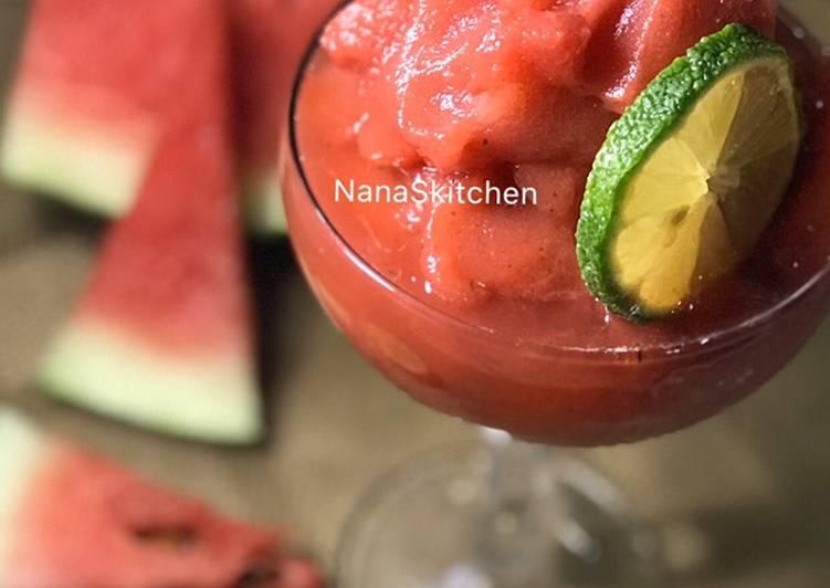 Recipe: Appetizing Watermelon Slush 🍉😋