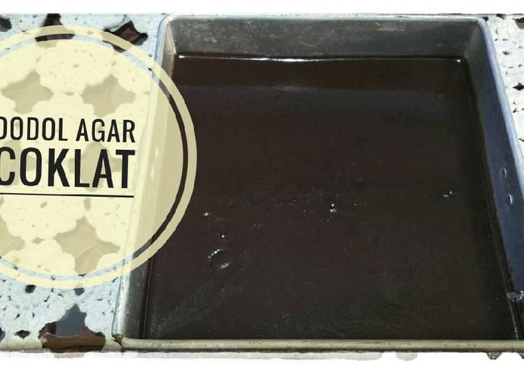 Dodol agar coklat