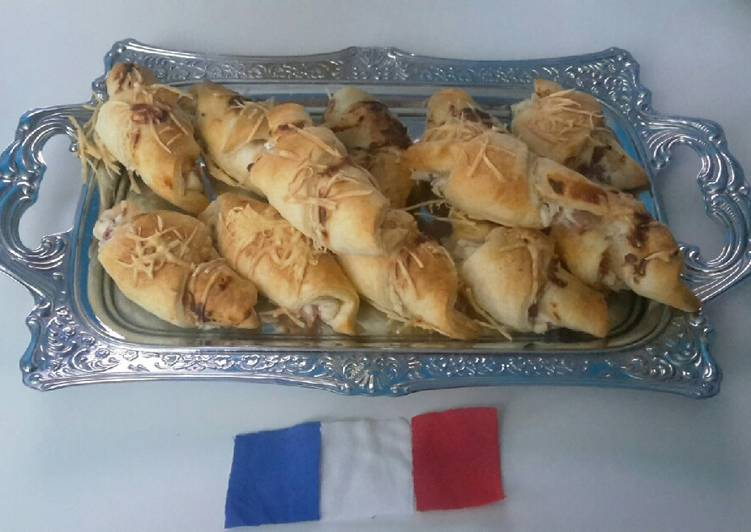 Croissants chèvre miel lardons