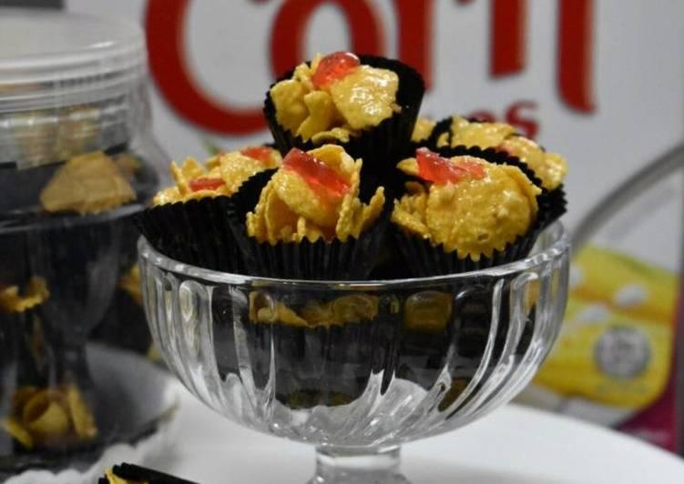 Cara Mudah Masak: Cornflakes Madu Badam dan Ceri  Dirumah