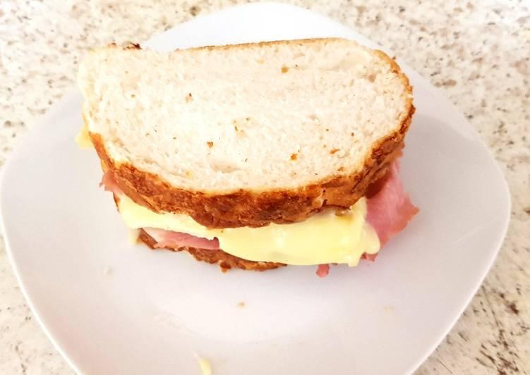 My Ham, Brie, & tiger bread sandwich 😘