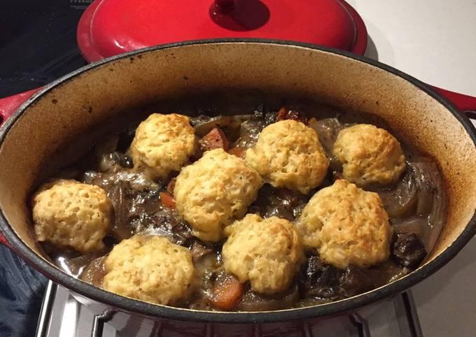 Casserole with dumplings
