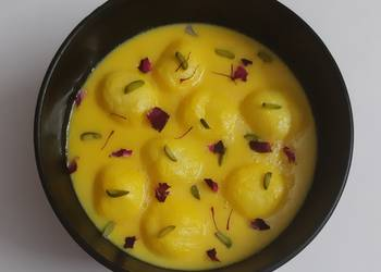 Easiest Way to Make Delicious Rasmalai with tinned Rossogolla