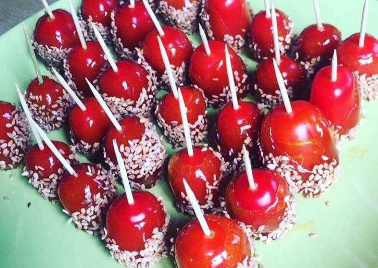 Tomates cerises façon pomme d'amour