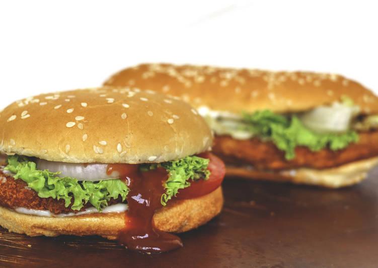 Crunchy king burger