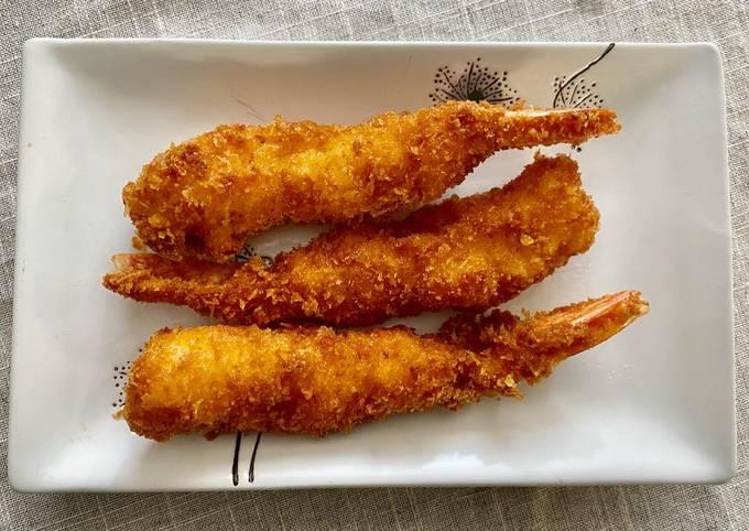 Ebi-Fry or Ebi Furai (Japanese fried shrimps)