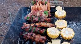 Hình ảnh món Đồ nướng đi phượt (thịt nướng, xúc xích nướng, khoai nướng,...)