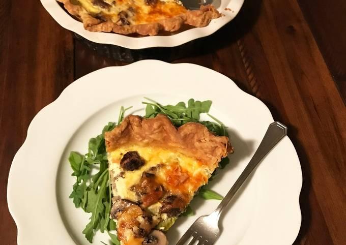 Fullblood Wagyu Beef Breakfast Sausage, Mushroom, Asparagus, and Jack Cheese Quiche