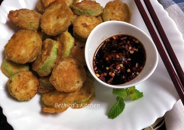 Hobak Jeon (Korean style Zucchini Fritters)