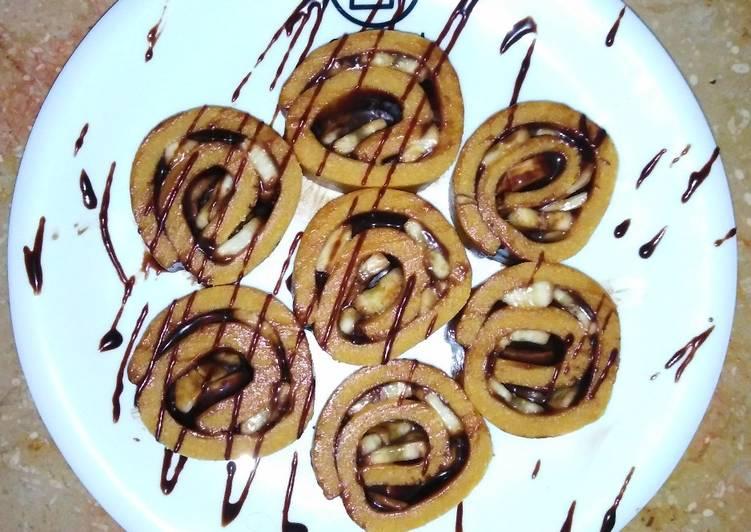 Recipe of Award-winning No bake chocolate banana swiss roll