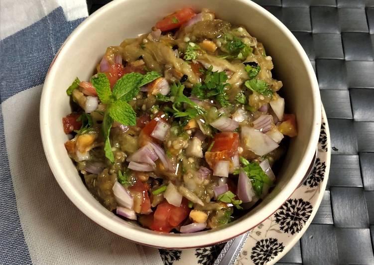 Batinjan Rahib - Roasted Eggplant Salad - Lebanese Style)
